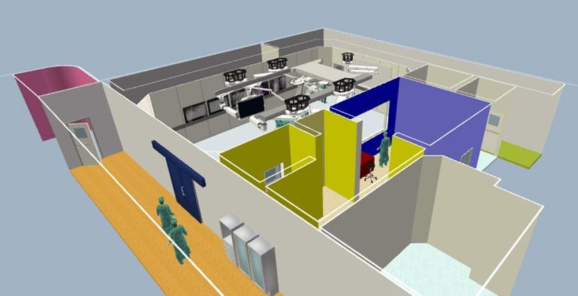 Getinge OR3D Multi-room scene example